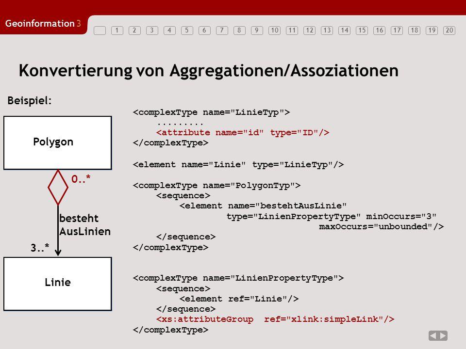 Konvertierung von Aggregationen/Assoziationen