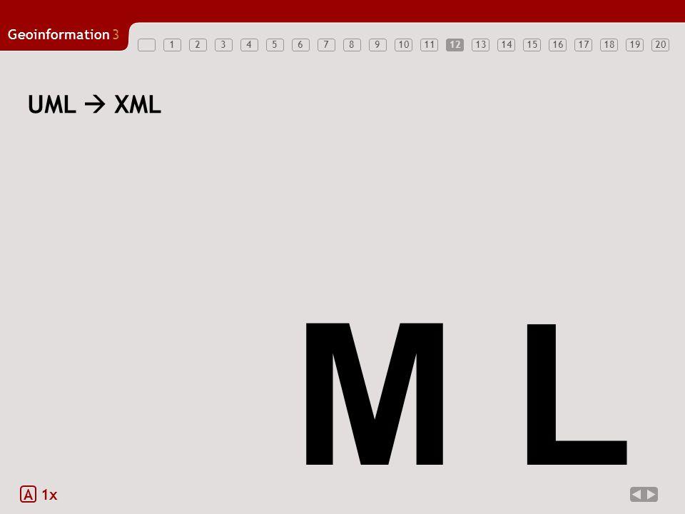 12 UML  XML M L A 1x