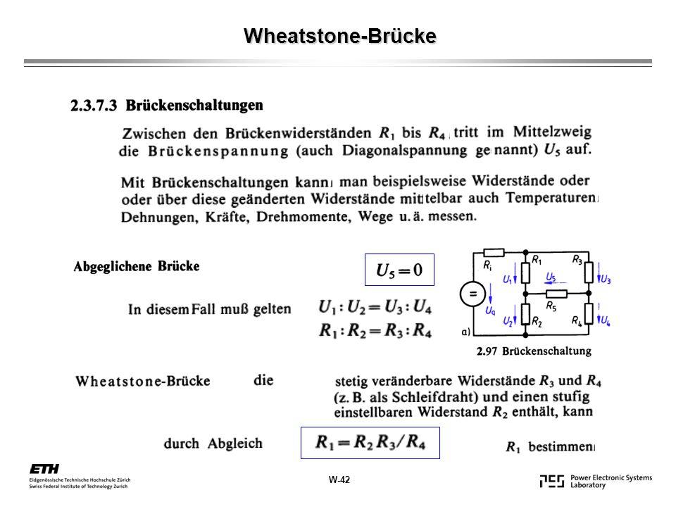 Wheatstone-Brücke W-42