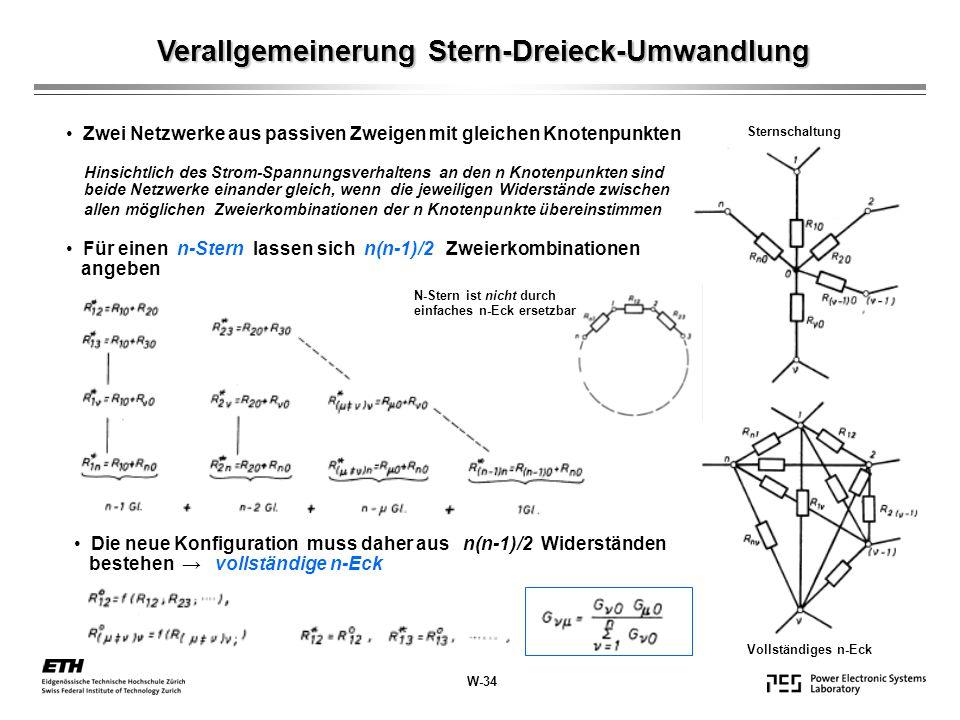 Verallgemeinerung Stern-Dreieck-Umwandlung