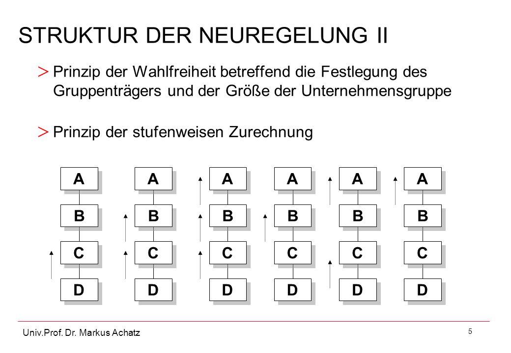 STRUKTUR DER NEUREGELUNG II