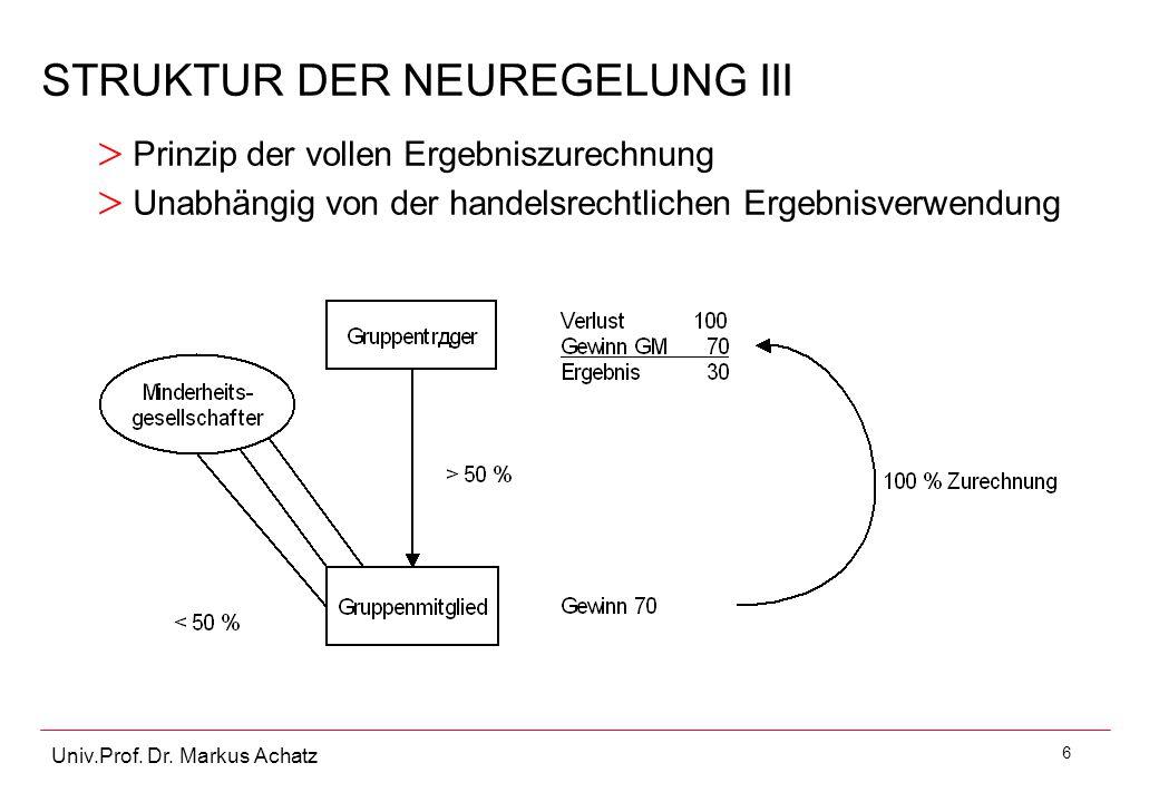 STRUKTUR DER NEUREGELUNG III