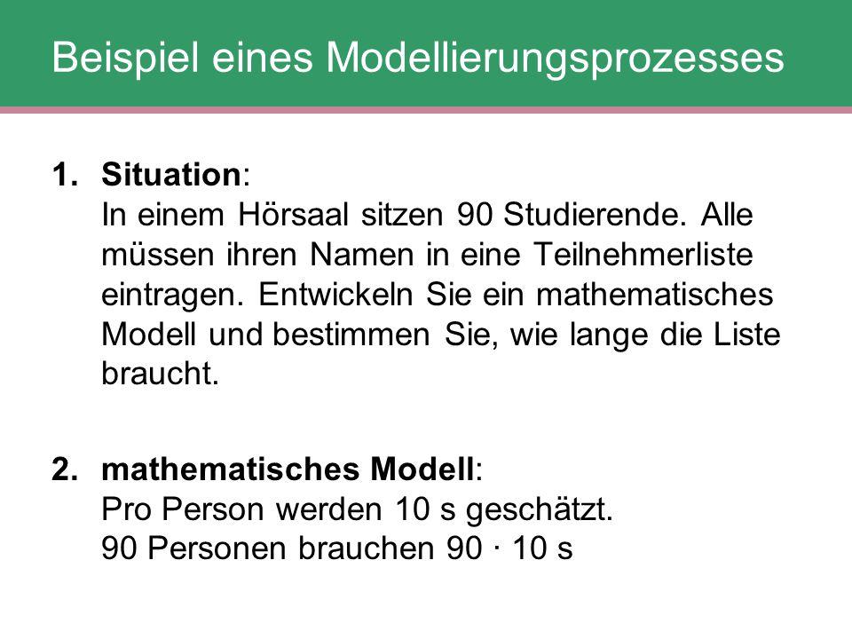Beispiel eines Modellierungsprozesses