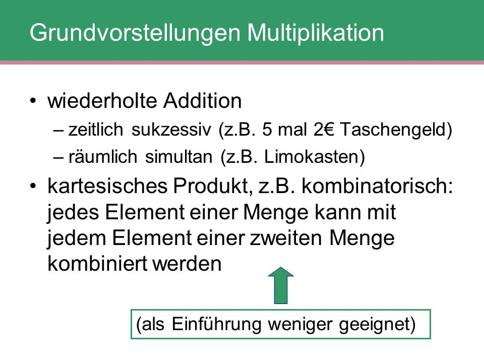Grundvorstellungen Multiplikation