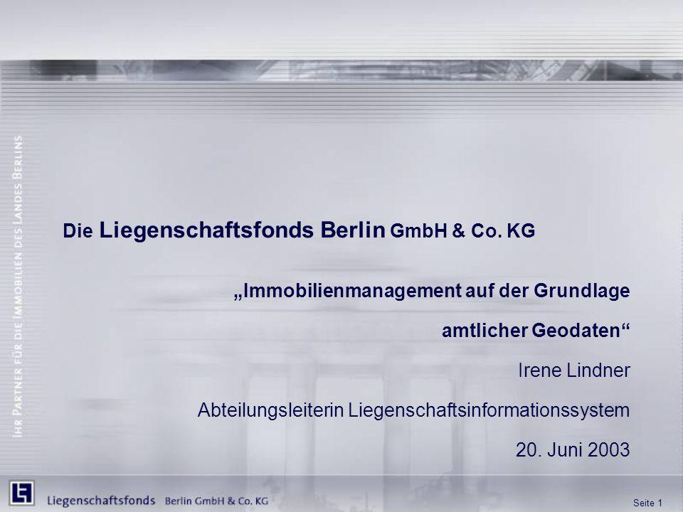 Die Liegenschaftsfonds Berlin GmbH & Co. KG