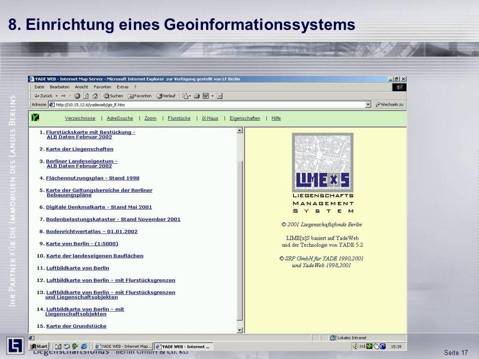 8. Einrichtung eines Geoinformationssystems