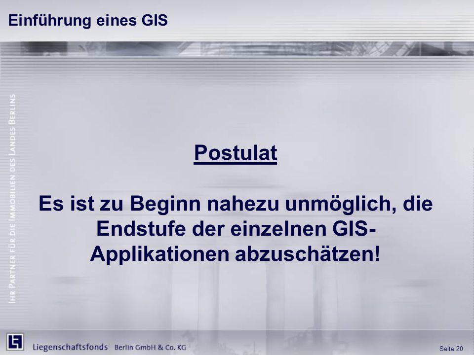 Einführung eines GIS Postulat.
