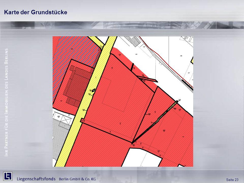 Karte der Grundstücke