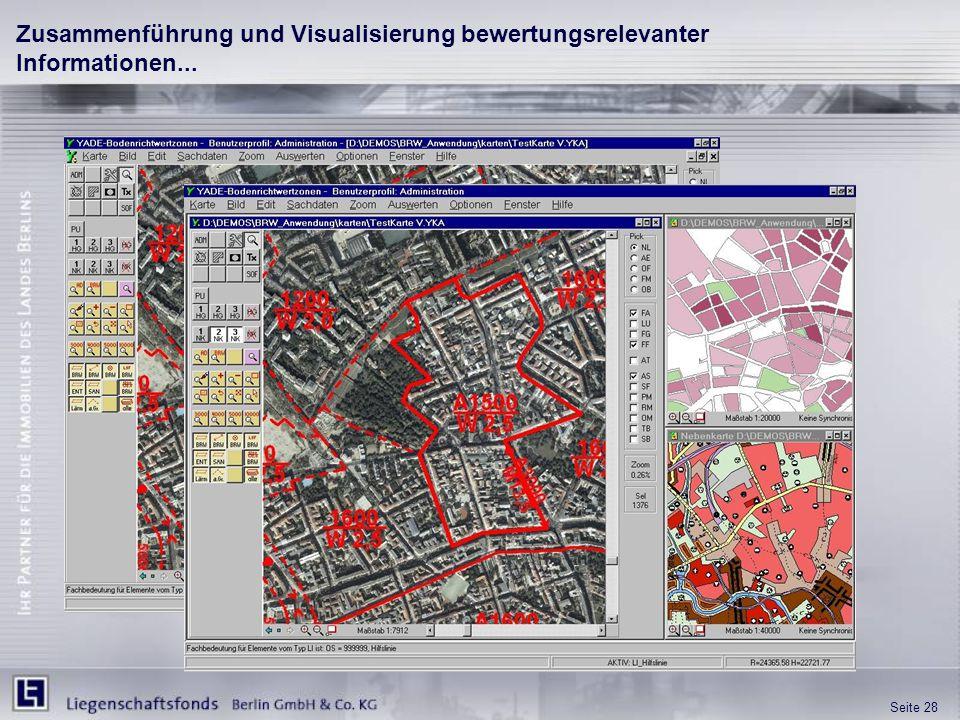 Zusammenführung und Visualisierung bewertungsrelevanter Informationen...