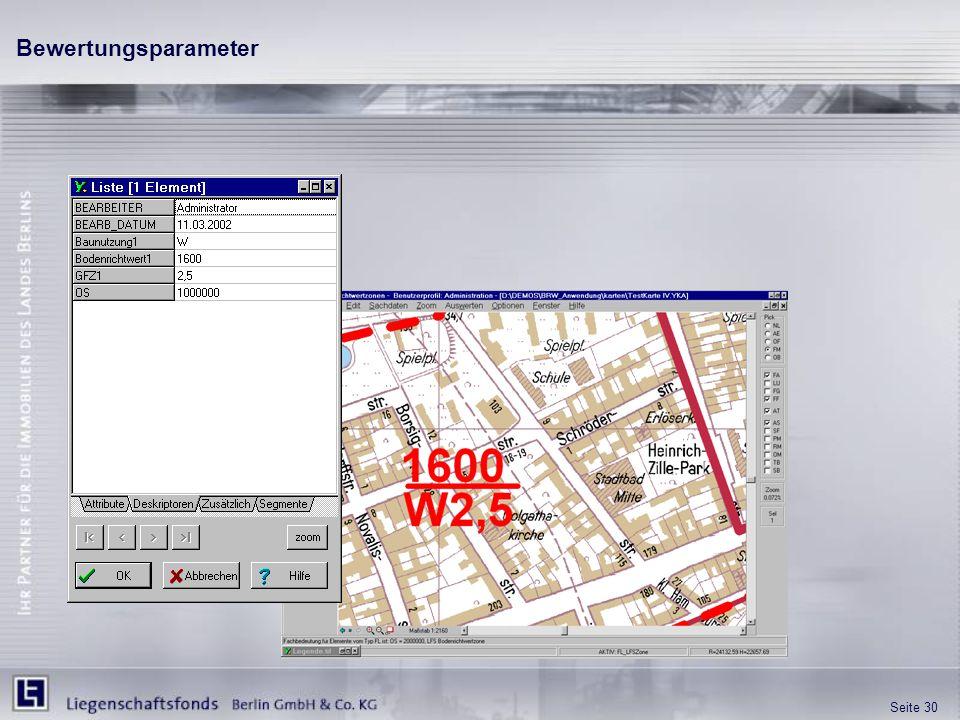 Bewertungsparameter