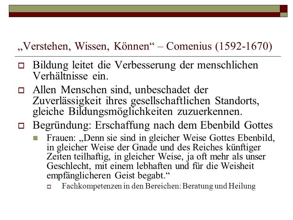 """Verstehen, Wissen, Können – Comenius (1592-1670)"