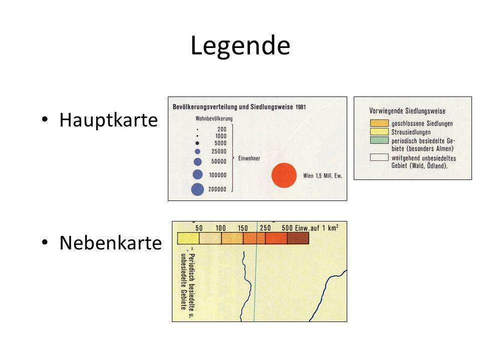 Legende Hauptkarte Nebenkarte