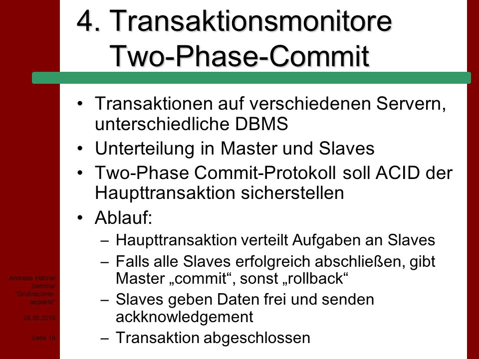 4. Transaktionsmonitore Two-Phase-Commit