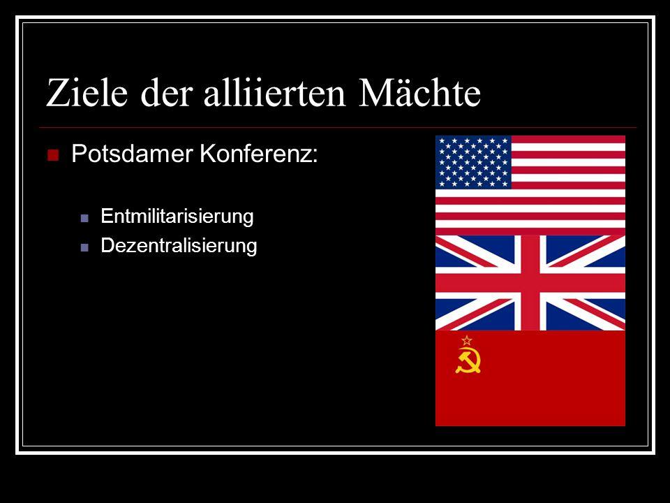 Ziele der alliierten Mächte