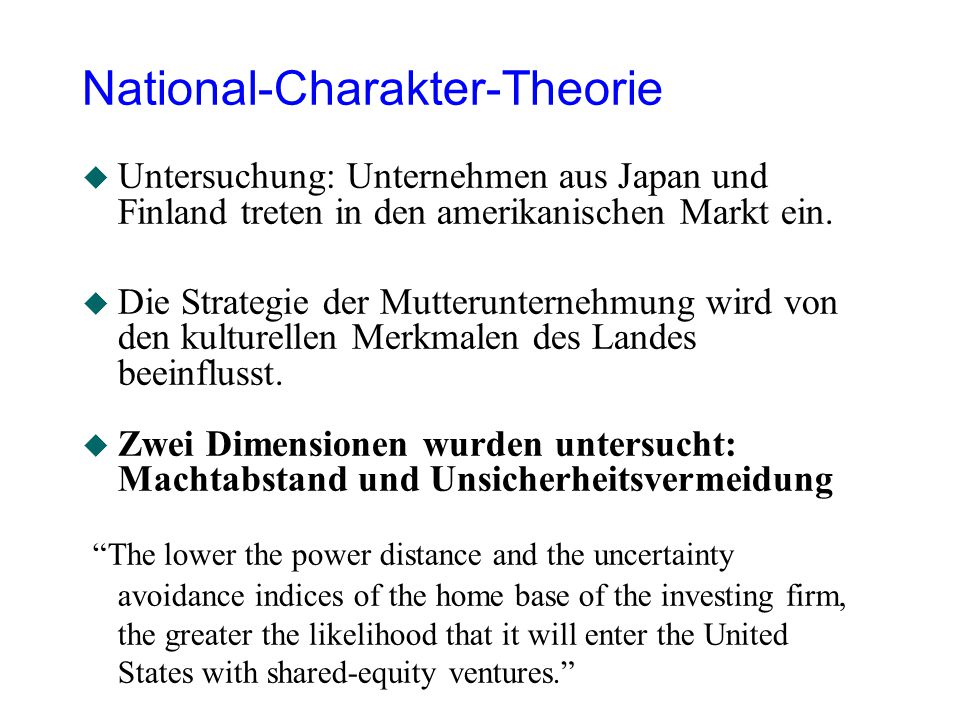 National-Charakter-Theorie