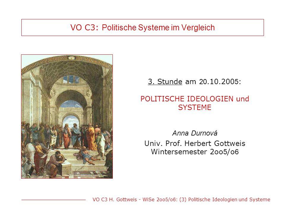 VO C3: Politische Systeme im Vergleich