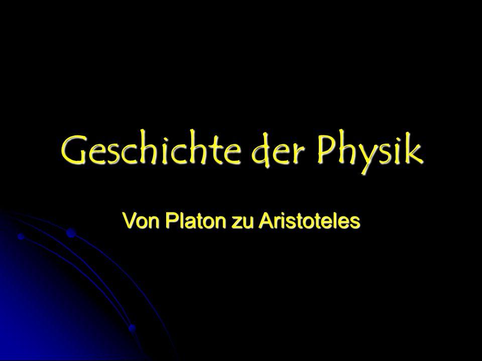 Von Platon zu Aristoteles