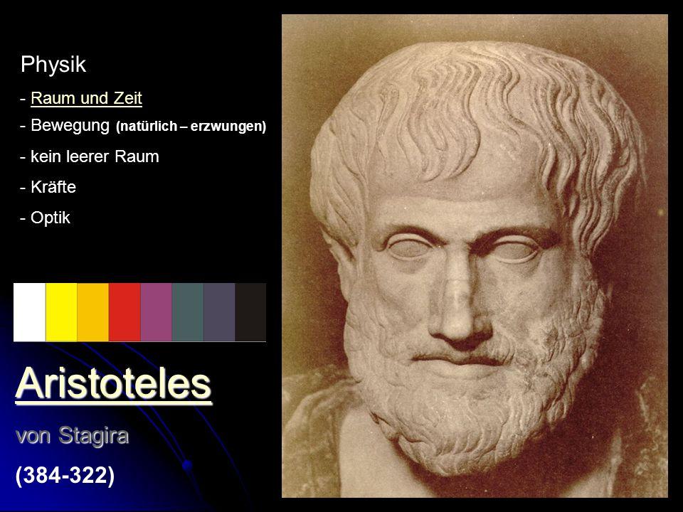 Aristoteles Physik von Stagira (384-322) - Raum und Zeit