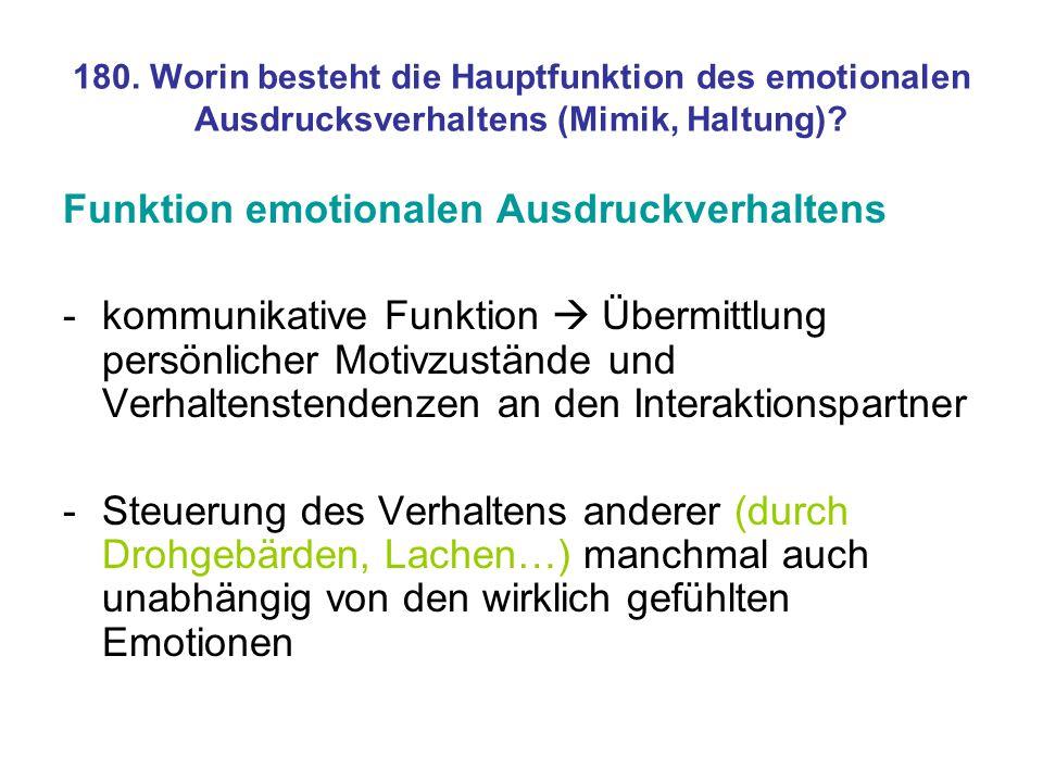 Funktion emotionalen Ausdruckverhaltens
