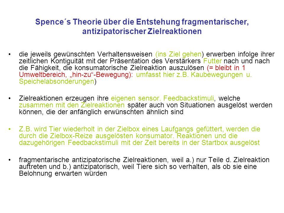 Spence´s Theorie über die Entstehung fragmentarischer, antizipatorischer Zielreaktionen