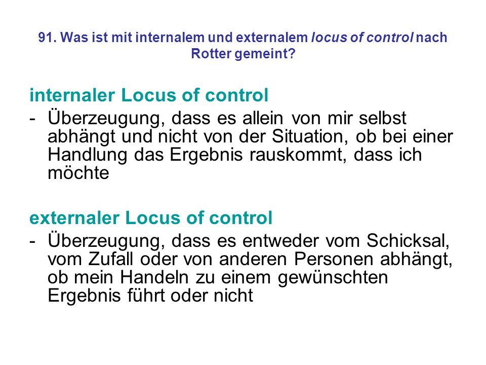 internaler Locus of control