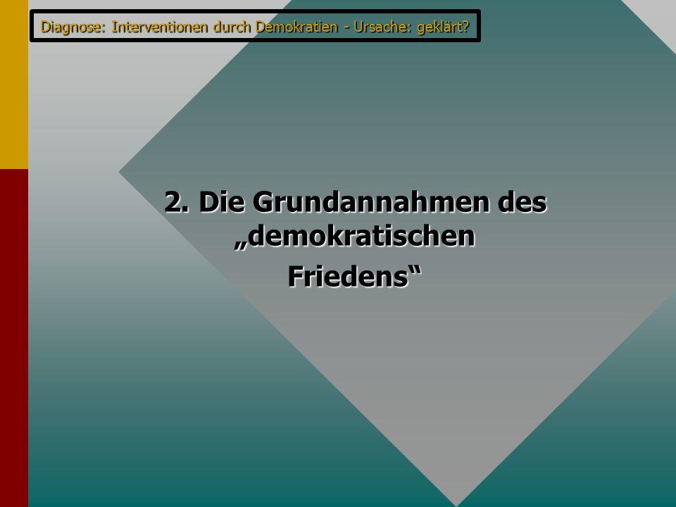 """2. Die Grundannahmen des """"demokratischen"""
