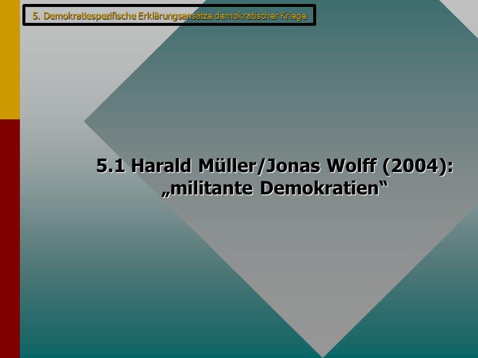 "5.1 Harald Müller/Jonas Wolff (2004): ""militante Demokratien"