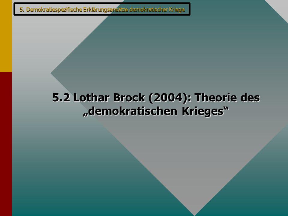 "5.2 Lothar Brock (2004): Theorie des ""demokratischen Krieges"