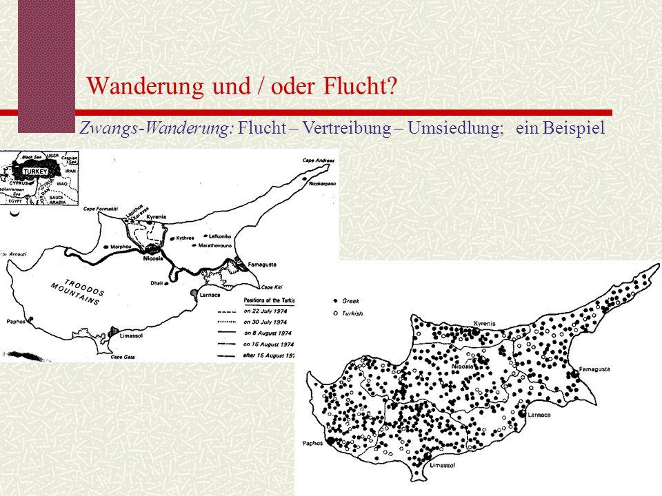 Wanderung und / oder Flucht