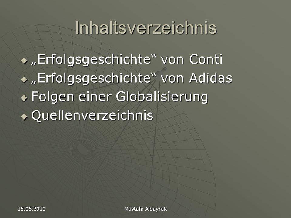 """Inhaltsverzeichnis """"Erfolgsgeschichte von Conti"""