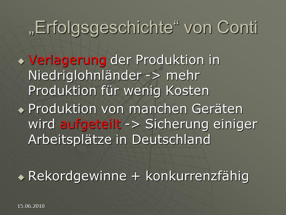 """""""Erfolgsgeschichte von Conti"""