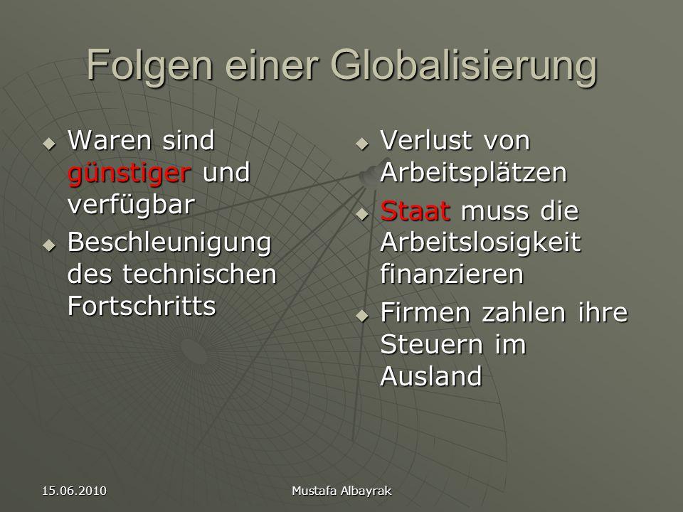 Folgen einer Globalisierung