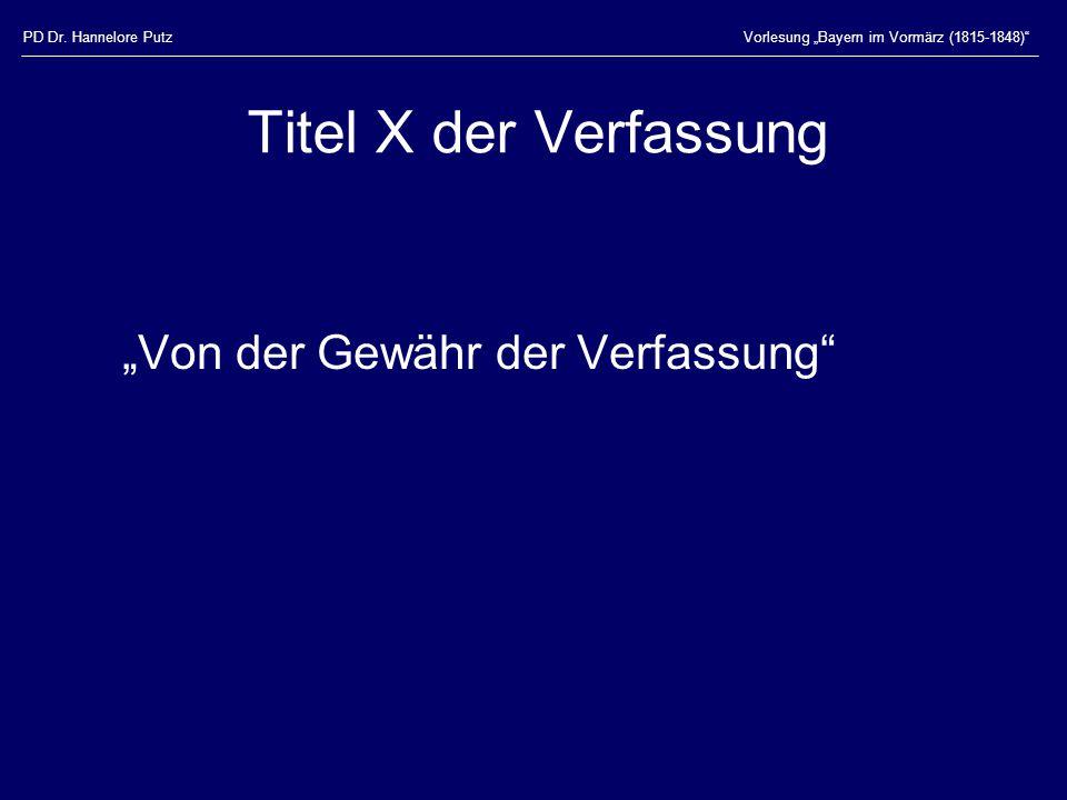 """Titel X der Verfassung """"Von der Gewähr der Verfassung"""
