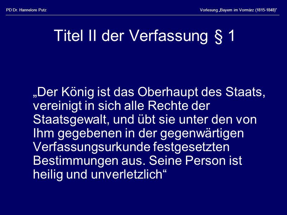 Titel II der Verfassung § 1