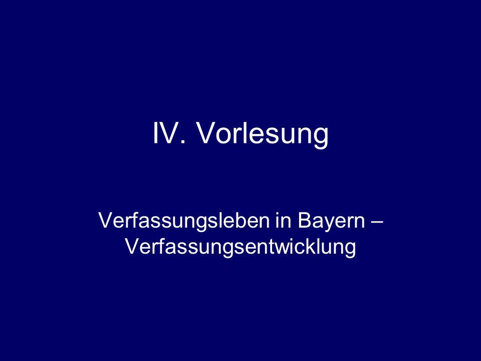 Verfassungsleben in Bayern – Verfassungsentwicklung