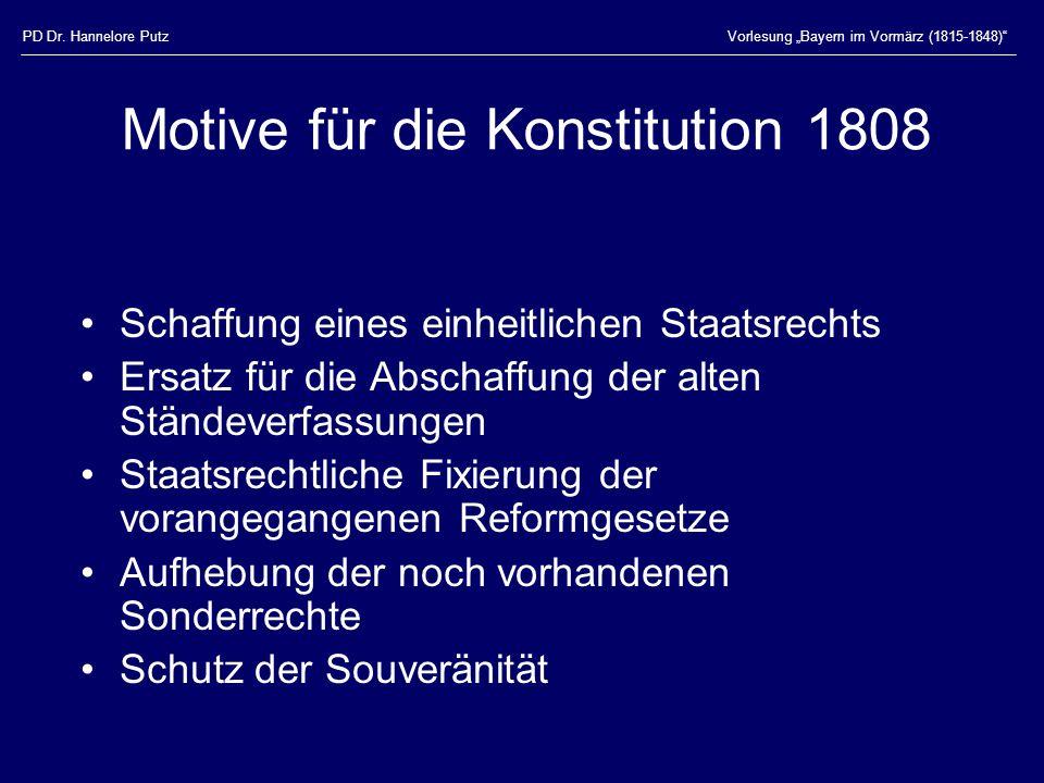 Motive für die Konstitution 1808