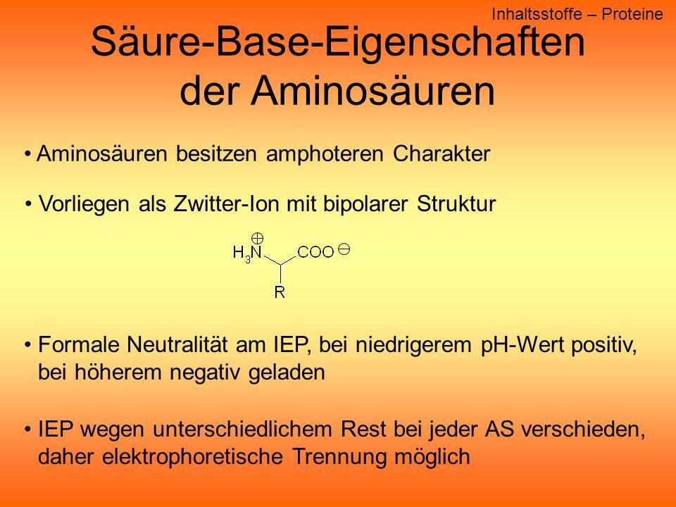 Säure-Base-Eigenschaften der Aminosäuren