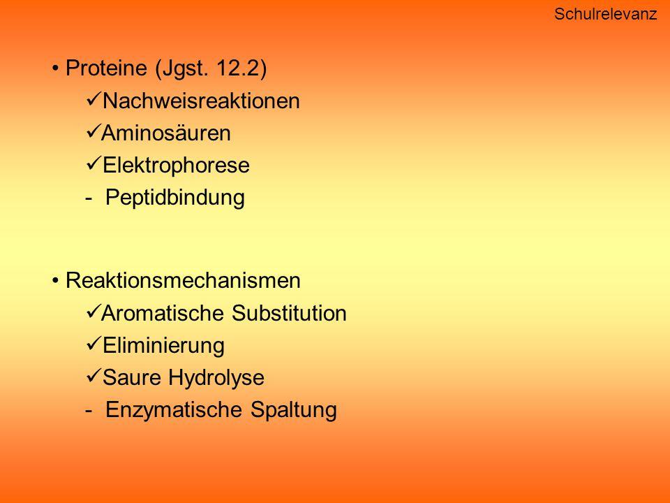 Reaktionsmechanismen Aromatische Substitution Eliminierung