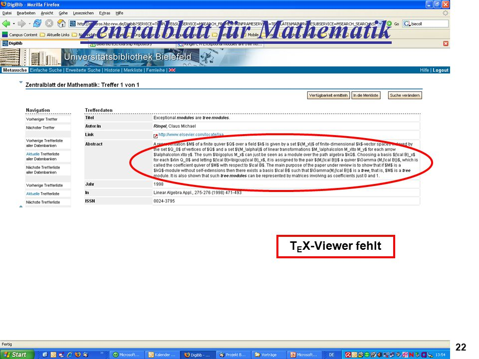 Zentralblatt für Mathematik