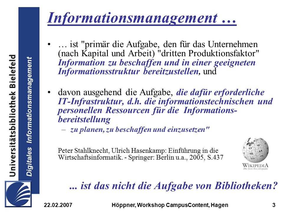 Informationsmanagement …