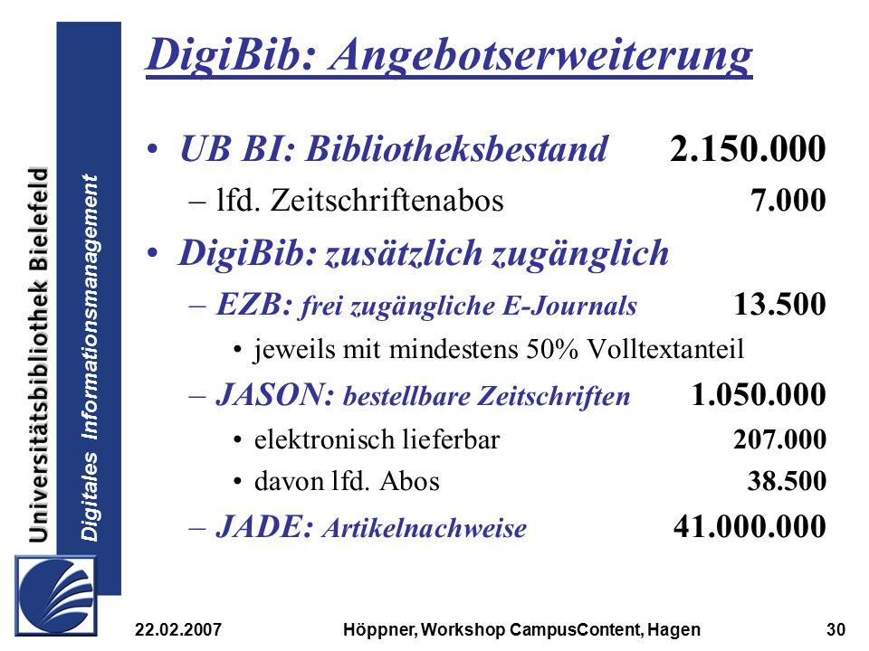 DigiBib: Angebotserweiterung