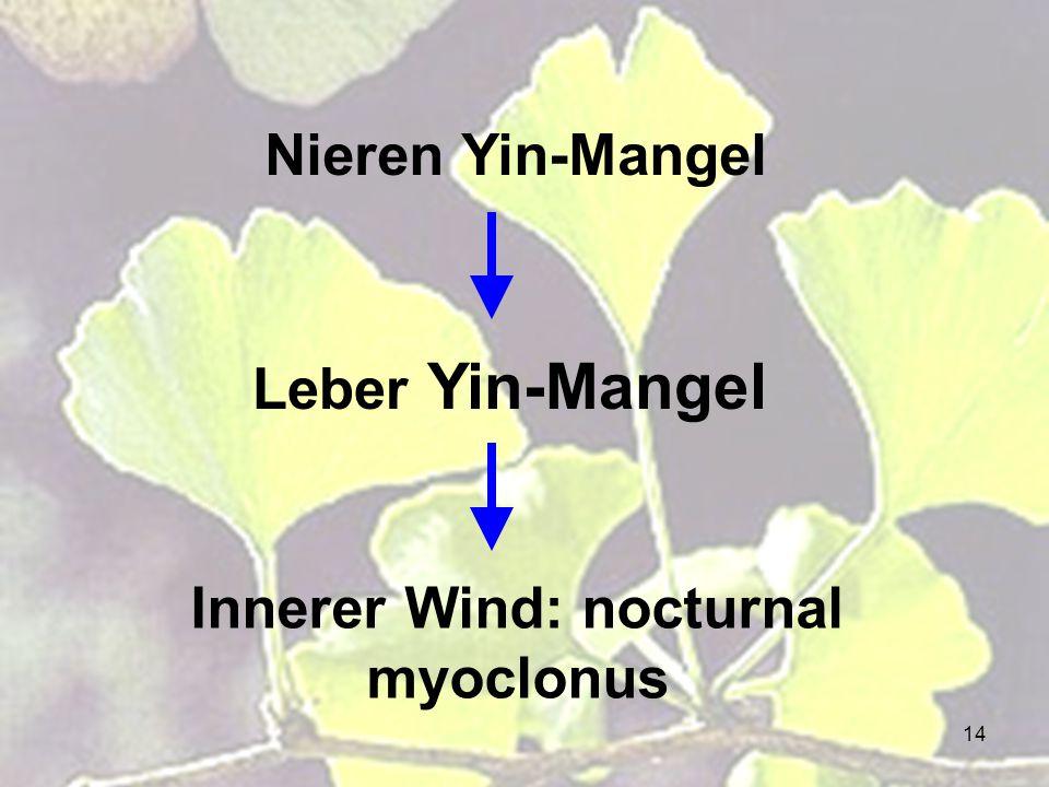 Innerer Wind: nocturnal myoclonus