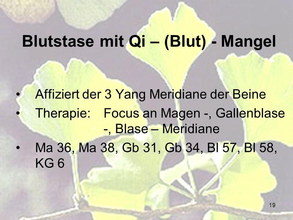 Blutstase mit Qi – (Blut) - Mangel