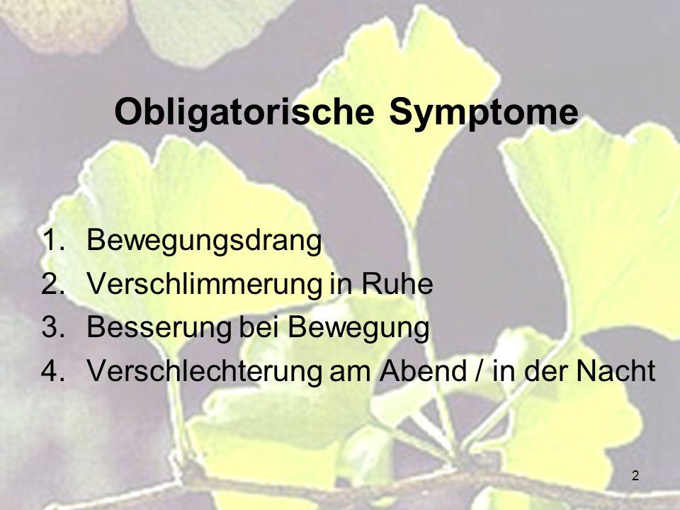 Obligatorische Symptome