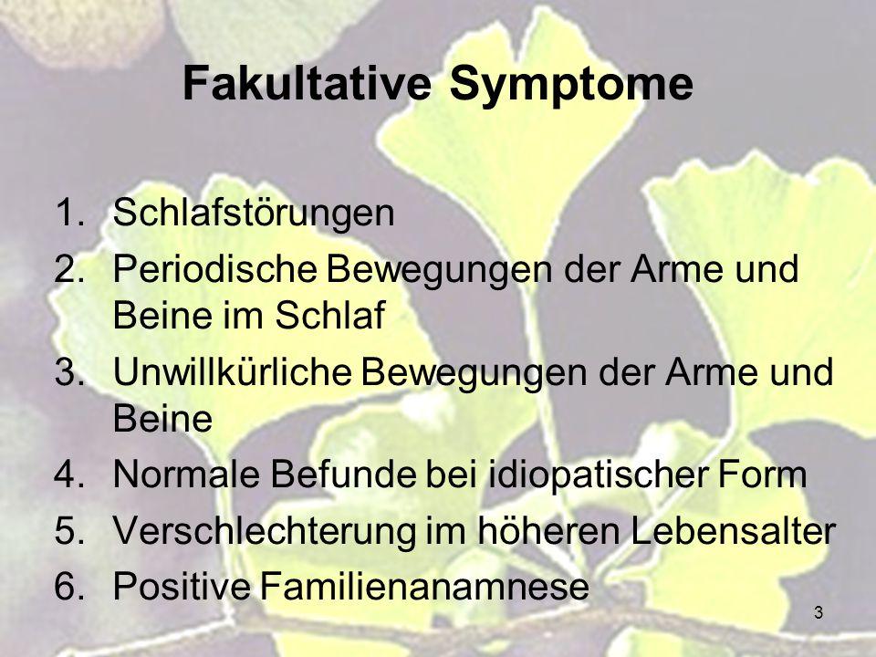 Fakultative Symptome Schlafstörungen