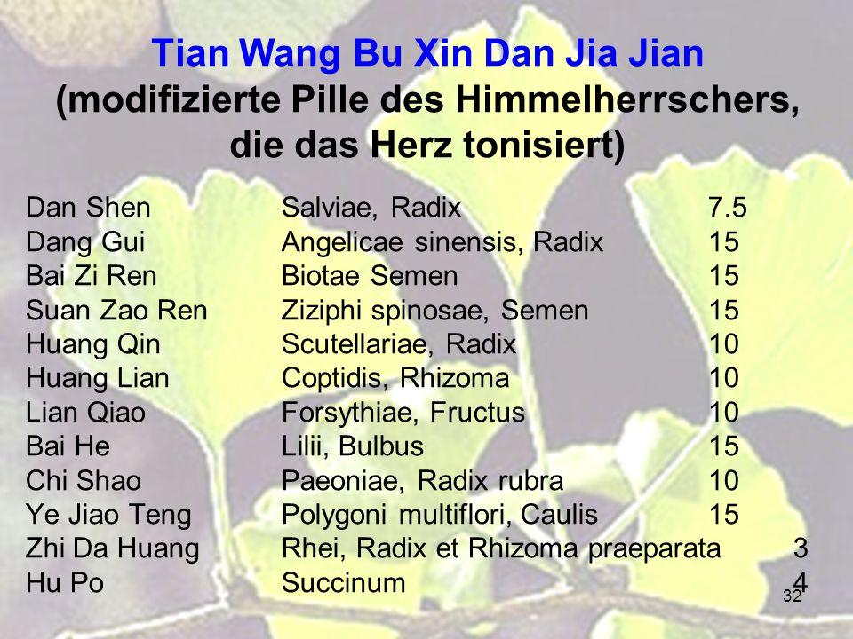 Tian Wang Bu Xin Dan Jia Jian (modifizierte Pille des Himmelherrschers, die das Herz tonisiert)