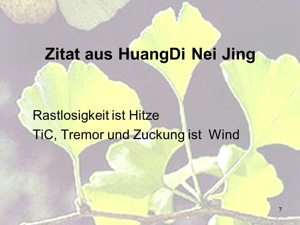 Zitat aus HuangDi Nei Jing