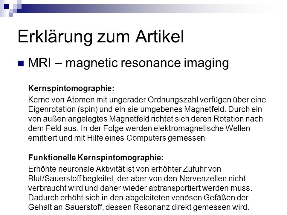 Erklärung zum Artikel MRI – magnetic resonance imaging