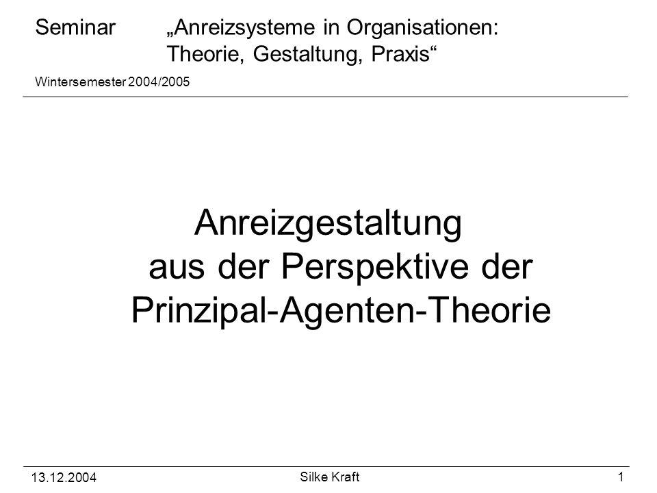 Anreizgestaltung aus der Perspektive der Prinzipal-Agenten-Theorie