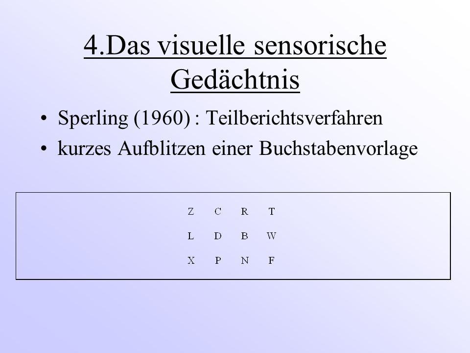 4.Das visuelle sensorische Gedächtnis